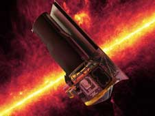 artist concept of Spitzer Space Telescope