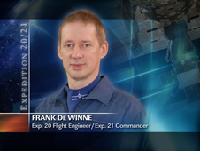 Frank De Winne -- Expedition 20 Flight Engineer / Expedition 21 Commander