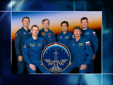 Expedition 20 crew portrait with Koichi Wakata