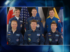 Expedition 20 crew portrait with Tim Kopra