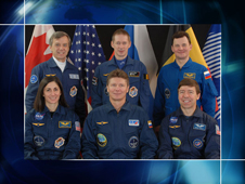 Expedition 20 crew portrait with Nicole Stott
