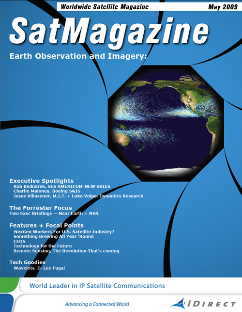 Cover of SatMagazine, May 2009