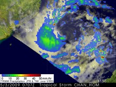 Chan-hom forms off of the southeast coast of Vietnam on May 3, 2009