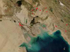 Iraqi oil fires from space