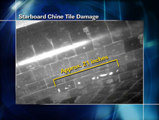 Starboard Chine Tile Damage