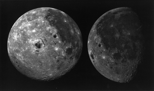 Galileo spacecraft images of the moon