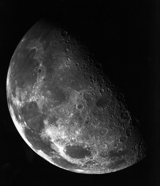 Galileo spacecraft composite image of the moon
