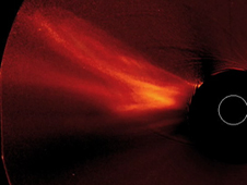 COR-2 coronagraph capturing the action of a CME