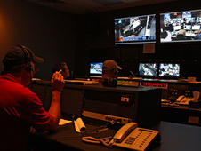 The control room, during the live broadcast of STOCC Update.