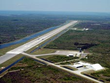 Runway at Kennedy Space Center's Shuttle Landing Facility.