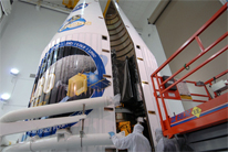 LRO gets encapsulated at the Kennedy Space Center
