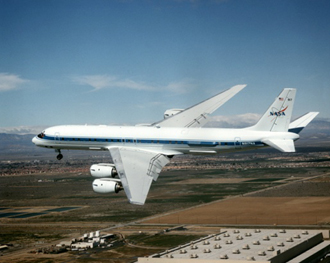 DC-8 Airborne Laboratory in flight