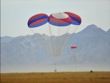 NASA and ATK successfully conducted an Ares I main cluster parachute test at the U.S. Army Proving Grounds in Yuma, Arizona on May 20, 2009.