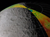 moon image with topography data superimposed