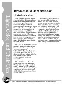 First page of Introduction to Light and Color