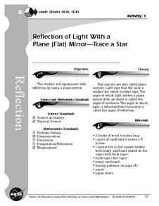 First page of Reflection of Light With a Plane (Flat) Mirror -- Trace a Star