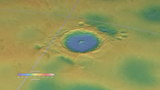 topographical image of a lunar crater