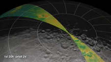 artist concept of how LRO will collect lunar topography data