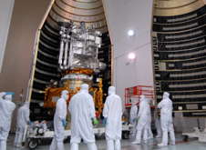 photo of LRO about to be encapsulated