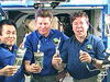 Expedition 19 crew makes a toast with recycled water
