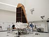 Kepler spacecraft inside a clean room