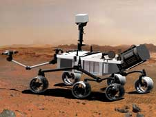 artist concept of Mars Science Laboratory