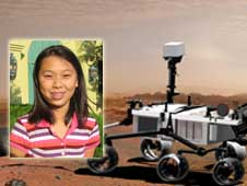 artist concept of Mars Science Laboratory and Clara Ma