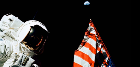 Picture of the Moon landing