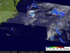 NASA's TRMM Satellite Captures Tropical Depression One's Rainfall from Space