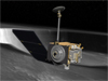 Conceptualization of LRO by a lunar crater