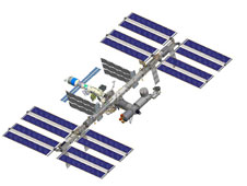 Drawing of space station after STS-127