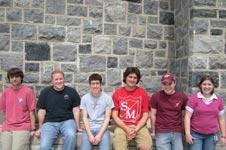 Hokie Space Team, from the left, Todd Pickering, Joshua Berman, Jeff Garnand-Royo, Michael Duda, Samuel Tutko and Alexa Jones.