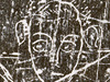 Sketch of a human figure from the slate tablet recovered from Jamestown settlement well