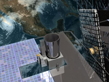 Artist's concept of GOES-O in orbit