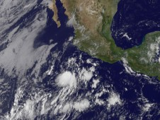 This low pressure area was located several hundred miles south of Manzanillo, Mexico on June 16 at 8 a.m. EDT.