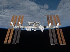 Space station solar arrays
