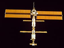 Space station solar array wings