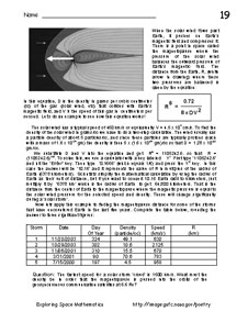 First page of Problem 19, The Solar Wind and the Bow Shock
