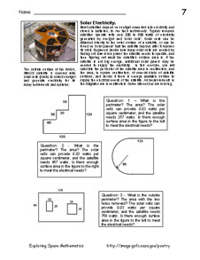 First page of Problem 7, Solar Electricity