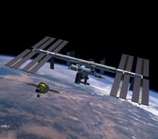 JSC2007-E-20983: Orion approaches International Space Station
