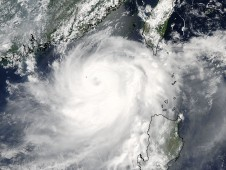 At 1:25 a.m. EDT on June 20, NASA's MODIS instrument saw Tropical Cyclone Linfa approaching China