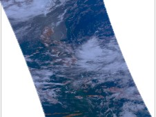 NASA's Aqua satellite captured this visible image of Tropical Depression 04W on June 22