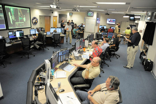 Goddard control room during LRO's lunar orbit insertion
