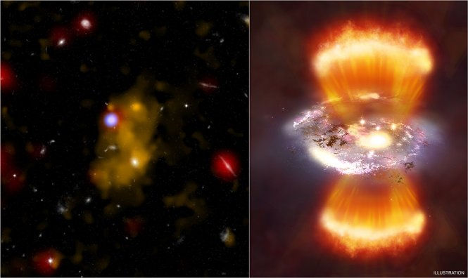 Chandra observes Lyman-alpha hydrogen blobs.
