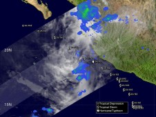 NASA's TRMM satellite could barely detect circulation or much rainfall on June 24 when it passed overhead