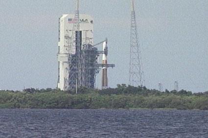 GOES-O at launch pad