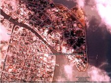 A Formosat-2 satellite of a Honduras hotel area at the time of an earthquake
