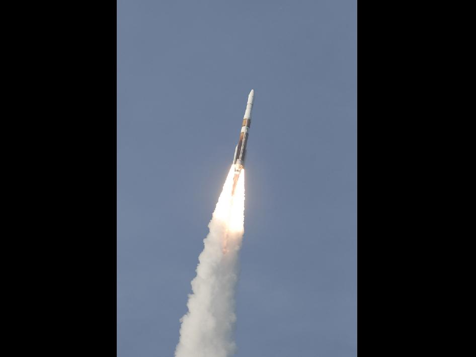 A Delta IV rocket launches carrying the GOES-O satellite.