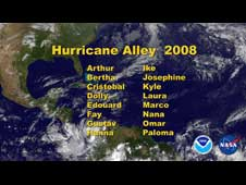 Title still for movie of the 2008 hurricanes