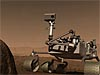 Artist's concept of the Mars Science Lab rover on Mars